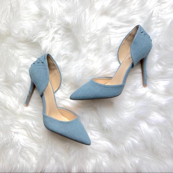 Shoes - Light blue Corset Heels